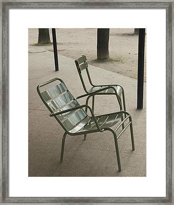 Chairs At Jardin Du Luxembourg Framed Print by Paolo Pizzimenti