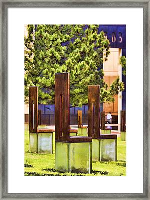 Chairs At The Gate Framed Print