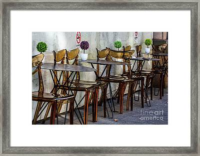 Chairs Framed Print by Avalon Fine Art Photography