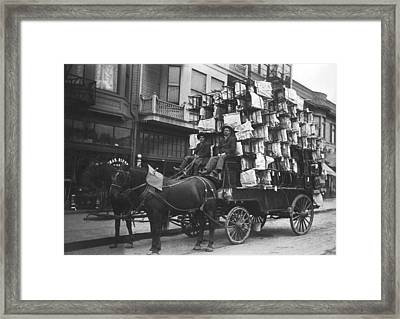 Chairs Delivered By Wagon Framed Print