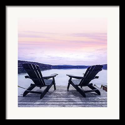 Lake House Framed Prints