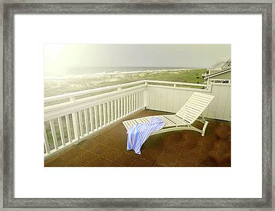 Chaise Lounge Framed Print by Diana Angstadt