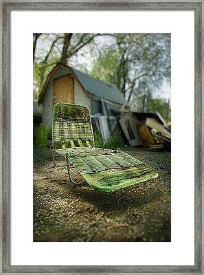 Chaise Lounge Framed Print by Yo Pedro