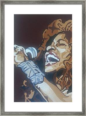 Framed Print featuring the painting Chaka Khan by Rachel Natalie Rawlins