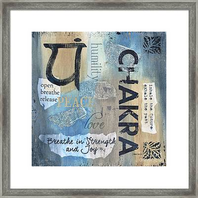 Chakra Framed Print by Debbie DeWitt