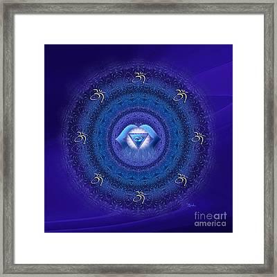 Chakra Mandala Art - Ajna Chakra Mandala By Rgiada Framed Print by Giada Rossi