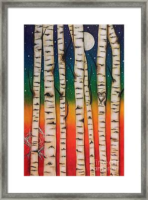 Chakra Rainbow Forest Framed Print