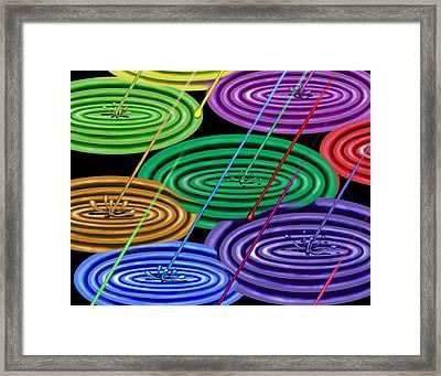 Chakra Shower I Framed Print