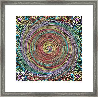 Chakra Swirl Framed Print