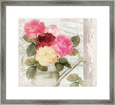 Chalet D'ete Roses Framed Print by Mindy Sommers