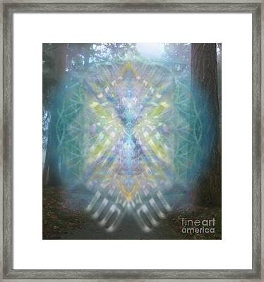 Chalice-tree Spirit In The Forest V1 Framed Print by Christopher Pringer