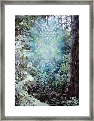 Chalice-tree Spirit In The Forest V3 Framed Print by Christopher Pringer