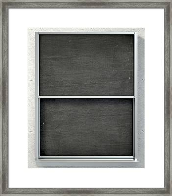 Chalk Board Render Framed Print