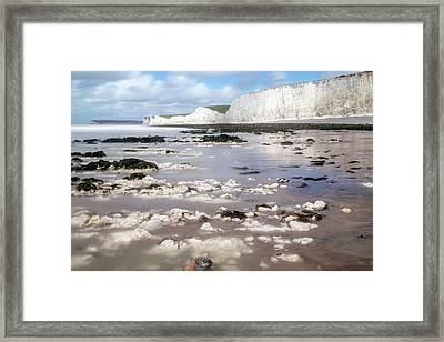 Chalk Cliffs Seven Sisters - England Framed Print
