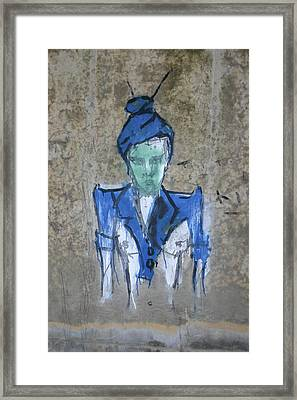 Chalk Person Framed Print by Dennis Curry