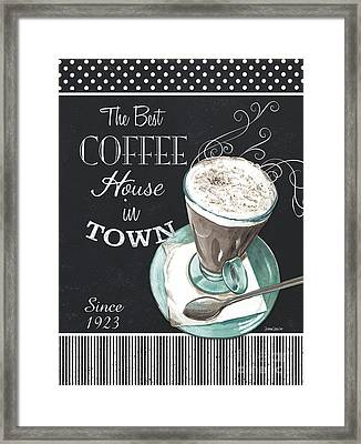 Framed Print featuring the painting Chalkboard Retro Coffee Shop 2 by Debbie DeWitt