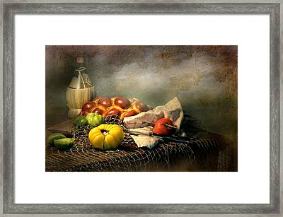Challah Bread Framed Print by Diana Angstadt