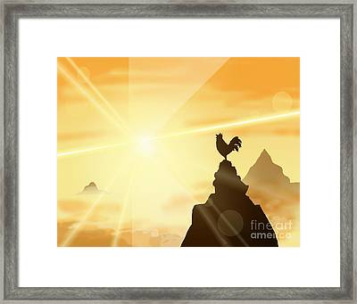 Challenge The Sun Framed Print