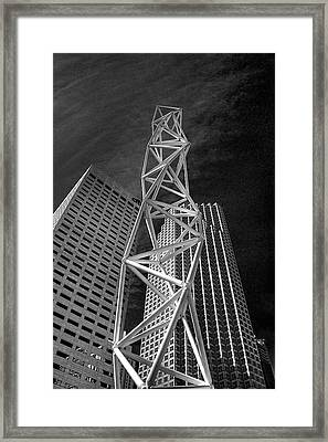 Challenger Memorial In Miami Framed Print by William Wetmore