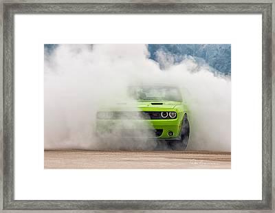 Challenger Smoke Framed Print