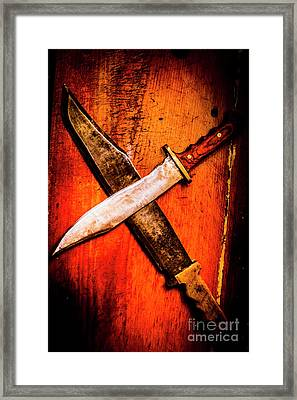 Challenging A Duel Framed Print