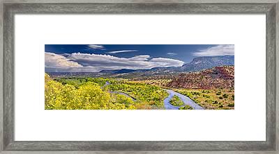 Chama River Overlook Framed Print
