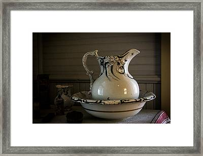 Chamber Pitcher With Basin 3 Framed Print
