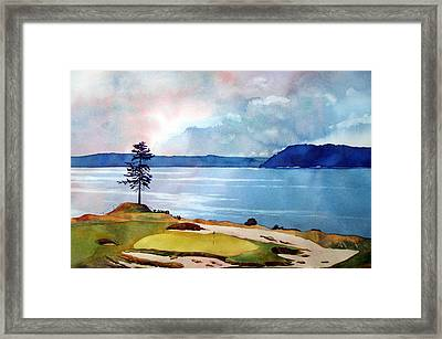 Chambers Bay 15th Hole Framed Print by Scott Mulholland