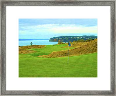 Chambers Bay Golf Course Framed Print by Scott Carda