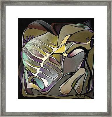Chameleon Fish Framed Print by Deyana Deco