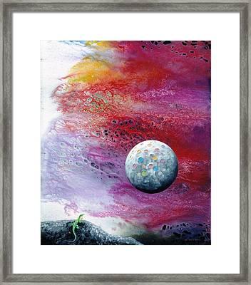 Chameleon Moon Framed Print by Lee Pantas