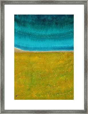 Chamisa In Bloom Original Painting Framed Print
