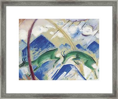 Chamois Framed Print by Franz Marc