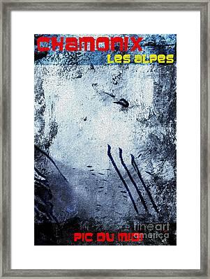 Chamonix Les Alpes Framed Print by Callan Percy
