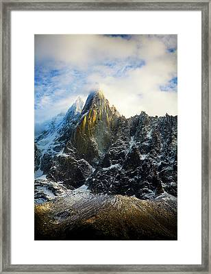 Framed Print featuring the photograph Chamonix by Lucian Capellaro
