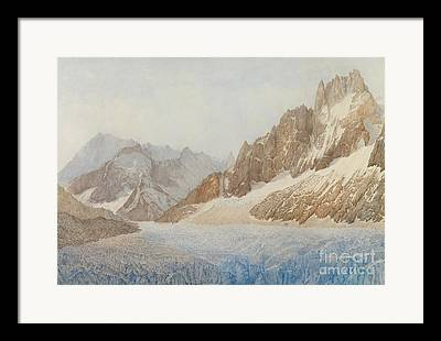 Mountains With Snow Framed Prints