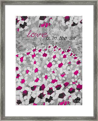 Champs De Marguerites - Love Is In The Air - Pink-05b Framed Print by Variance Collections