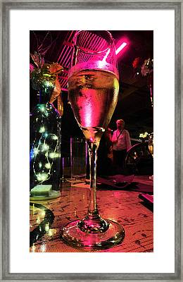 Framed Print featuring the photograph Champagne And Jazz by Lori Seaman