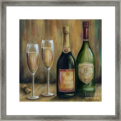 Champagne Celebration Framed Print by Marilyn Dunlap