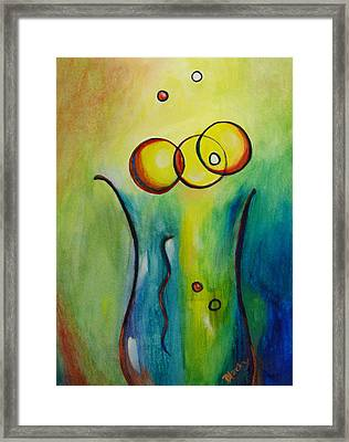 Champagne Framed Print by Donna Blackhall