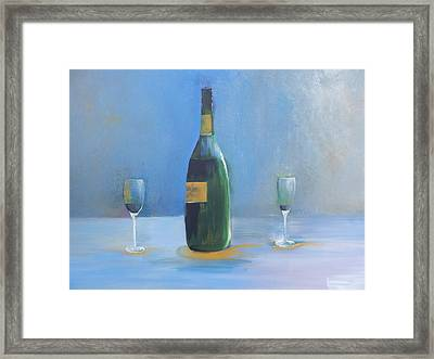 Framed Print featuring the painting Champagne For Two by Lisa Kaiser