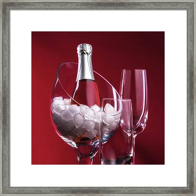Champagne For Two Framed Print