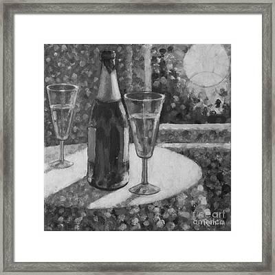 Champagne Moon Rising Framed Print by Jim Rehlin