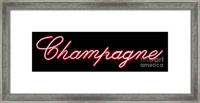 Champagne Framed Print by Olivier Le Queinec