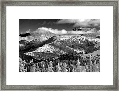 Champagne Snowscape Framed Print by Kevin Munro