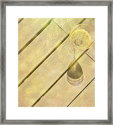 Champagne Spots Framed Print
