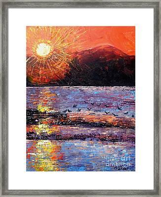 Champagne Sunset.  Framed Print by Caroline Street