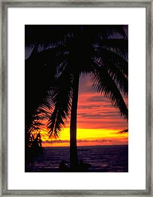 Champagne Sunset Framed Print