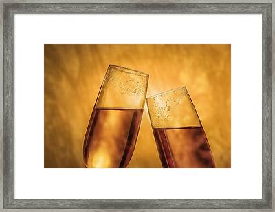 Champagne Toast Framed Print by Tom Mc Nemar