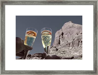 Champagne Wish Framed Print by Angie Wingerd